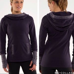 Lululemon Apres Run Pullover Heathered Black Swan